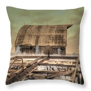 On The Farm Throw Pillow by Jane Linders