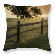 On The Fence Throw Pillow by Bill Wakeley