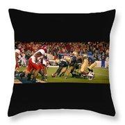 On The Goal Line - Notre Dame Vs Utah Throw Pillow