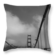 On The Golden Gate Bridge  Throw Pillow