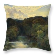 On The Greta Yorkshire 1890 Throw Pillow