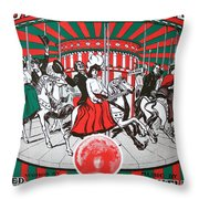 On The Joy Line Throw Pillow