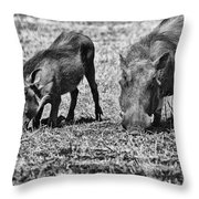 On The Knees Throw Pillow