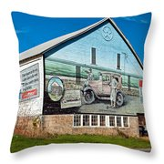 On The Lincoln Highway Throw Pillow