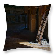 On The Loading Dock Throw Pillow