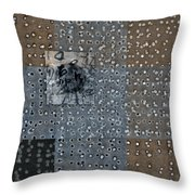 On The Marks Throw Pillow by Carol Leigh