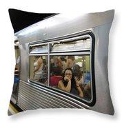 On The Metro - Sao Paulo Throw Pillow