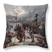 On The Night Of Marignan, Illustration Throw Pillow