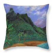 On The North Shore Throw Pillow