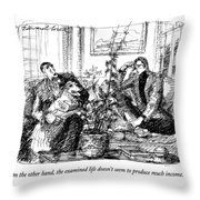On The Other Hand Throw Pillow
