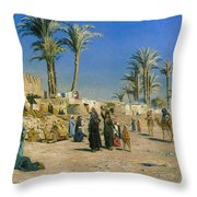 On The Outskirts Of Cairo Throw Pillow