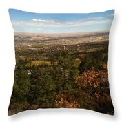 On The Path To The Summit Throw Pillow