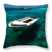 On The Peaceful Waters. Maldives Throw Pillow