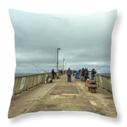 On The Pier At Pacifica Throw Pillow