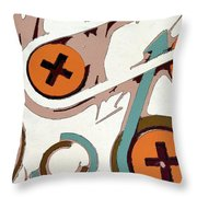 On The Plus Side Throw Pillow