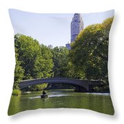On The Pond - Central Park Throw Pillow