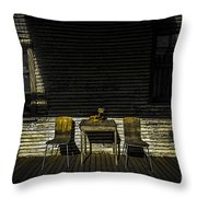 On The Porch Throw Pillow