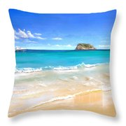 On The Quiet Side..... Throw Pillow by Heather Matthews