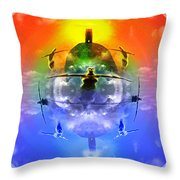 On The Rise Throw Pillow