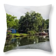 On The River In Baldwin County Alabama Throw Pillow