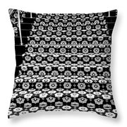 On The Riviera Stairs Palm Springs Throw Pillow