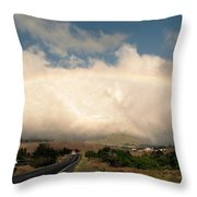 On The Road To Hilo Throw Pillow