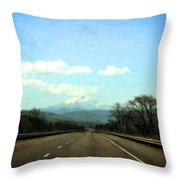 On The Road To Mount Hood Throw Pillow