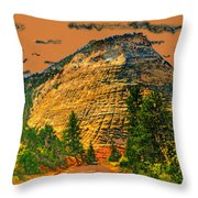 On The Road To Zion Throw Pillow