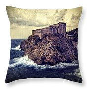 On The Rock - Dubrovnik Throw Pillow