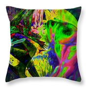 On The Rock 'n' Roll Journey Throw Pillow