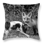 On The Scent Monochrome Throw Pillow