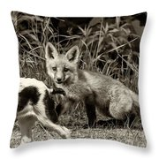 On The Scent Sepia Throw Pillow