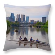 On The Schuylkill Throw Pillow