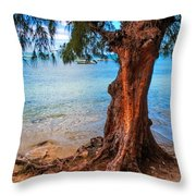 On The Shore. Mauritius Throw Pillow