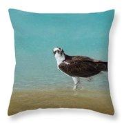 On The Shore - Osprey Throw Pillow