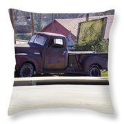 On The Side Of The Road Throw Pillow