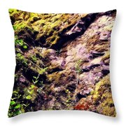On The Side Of The Rock Throw Pillow