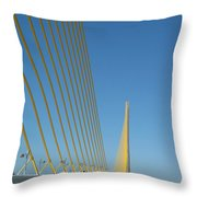 On The Sky Way Brigde  Throw Pillow