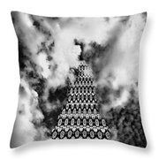 On The Riviera Stairway To Heaven Bw Palm Springs Throw Pillow