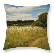 On The Summer Meadow II. Russia Throw Pillow