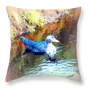 on the surface I manage to stay calm but inside I am flying to escape  Throw Pillow