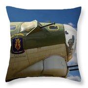 On The Tarmac B-17g Throw Pillow