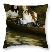 On The Thames     A Heron Throw Pillow