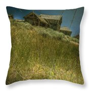On The Top Of Grassy Hill Throw Pillow