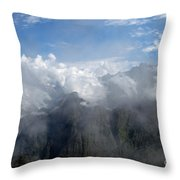 On The Top Of The World... Throw Pillow