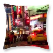 On The Town - Times Square Throw Pillow