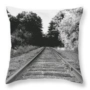 On The Tracks  Throw Pillow