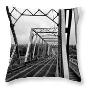On The Washingtons Crossing Bridge Throw Pillow
