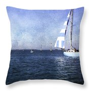 On The Water 3 - Venice Throw Pillow