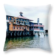 Buildings On The Water  Throw Pillow